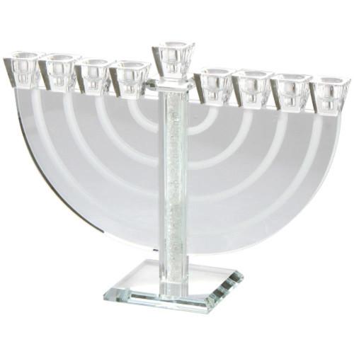Crystal Hanukkah Ornament Menorah Luxurious Candles/Oil elegant Style lamp