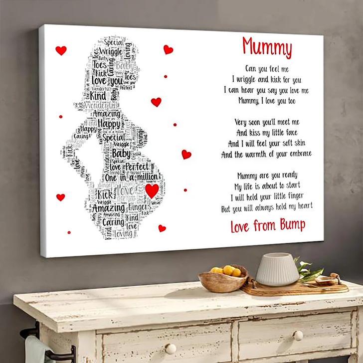 Moosfy Canvas -Mummy poem poster canvas gifts from bump, Gift For Expecting Mom
