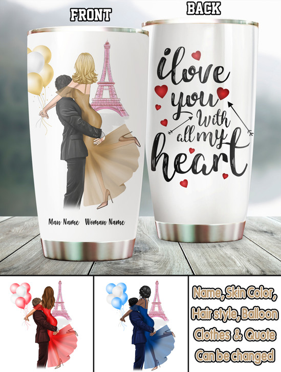 Moosfy Personalized Couple Tumbler, Gift For Her, Gift For Him,Couple Tumbler,Gift For Couple ,Couple Present