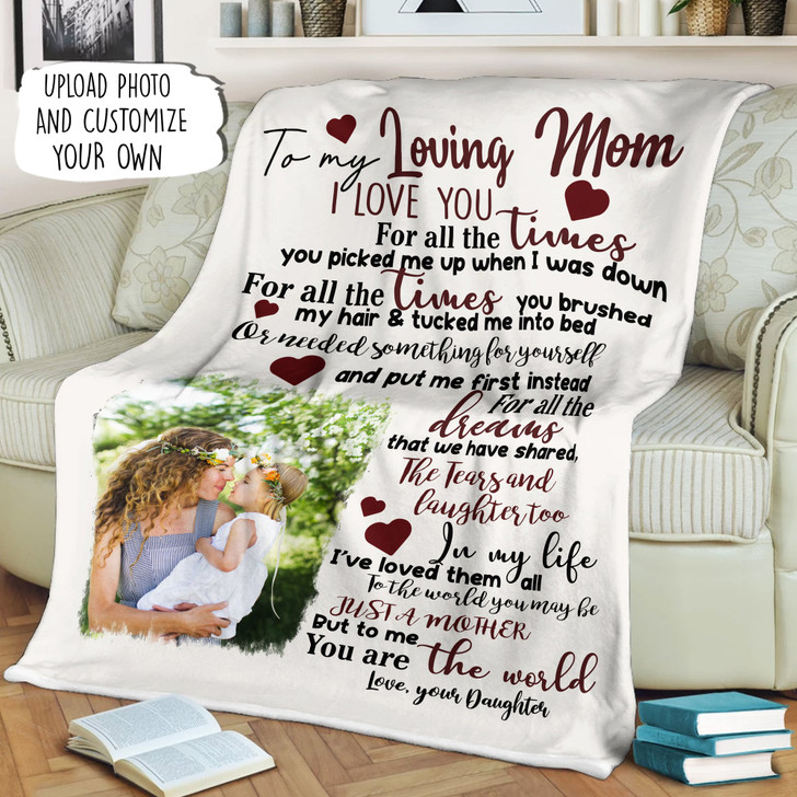 Moosfy To My Mom You Picked Me Up When I Was Down Blanket With Your Own e | Best Gift For Mother's Day