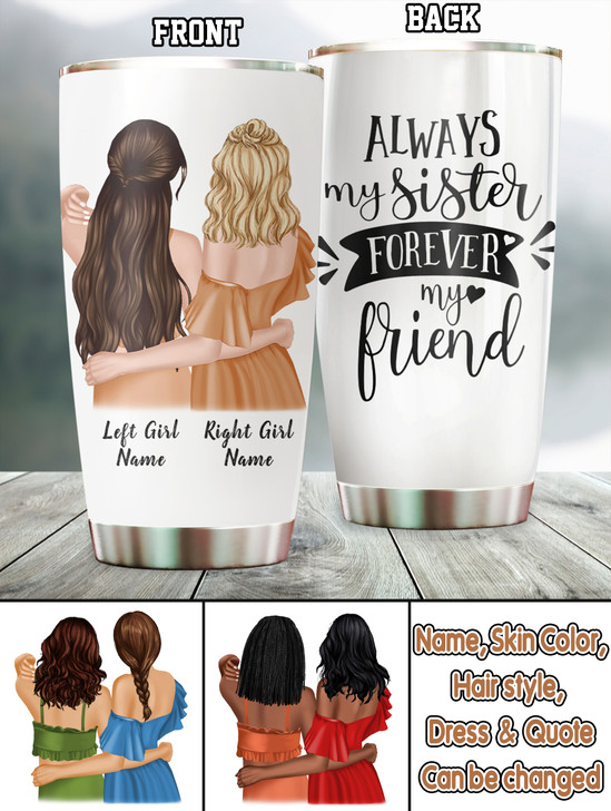 Moosfy Personalized Best Friend Tumblers , Friends Tumbler,Best Friend Tumblers, Best Friend Tumbler Cups,Friends Tumbler Cup, Sister Tumblers