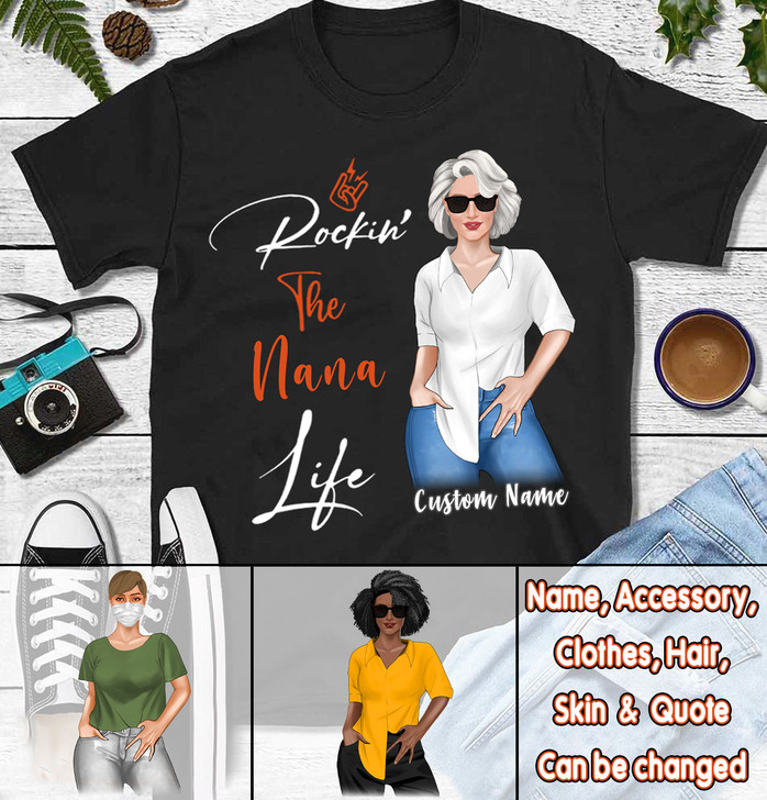 Moosfy Personalized Shirt, Mothers Day Gift for Grandma - Gift for Nana - Birthday Gift for Nana, Nana shirt, Grandma shirt