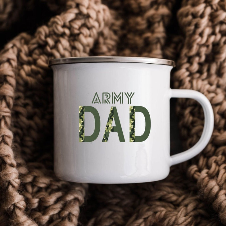 Gift For Military Dad Army Dad Camping Mug