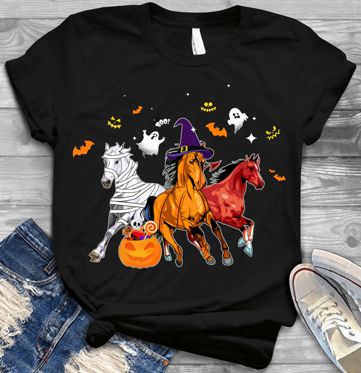 Halloween Spooky Horse T-shirt For Horse Lover