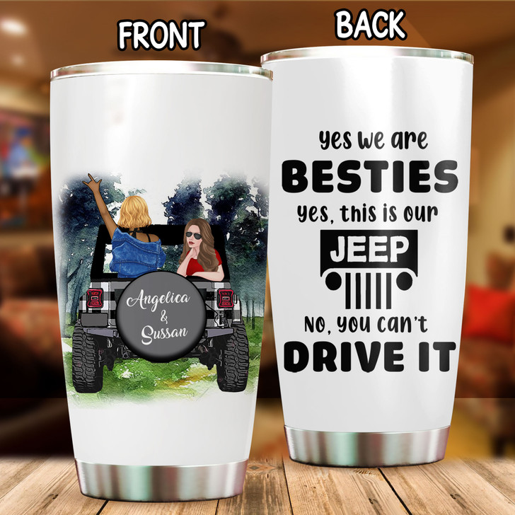 Personalized Gift For Bestfriends Jeep Girls Tumbler Cup