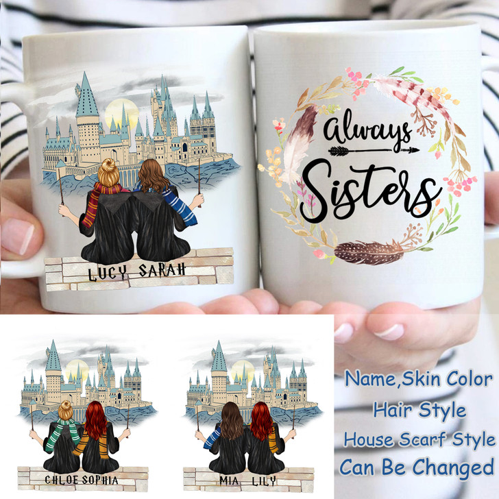 Personalized Wizard HP Mug For Besties, Sisters Mom And Daughter Happy Birthday Gift For Her