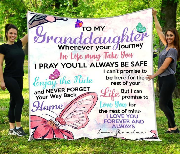 Best gift for Granddaughter -  Fleece Blanket DS