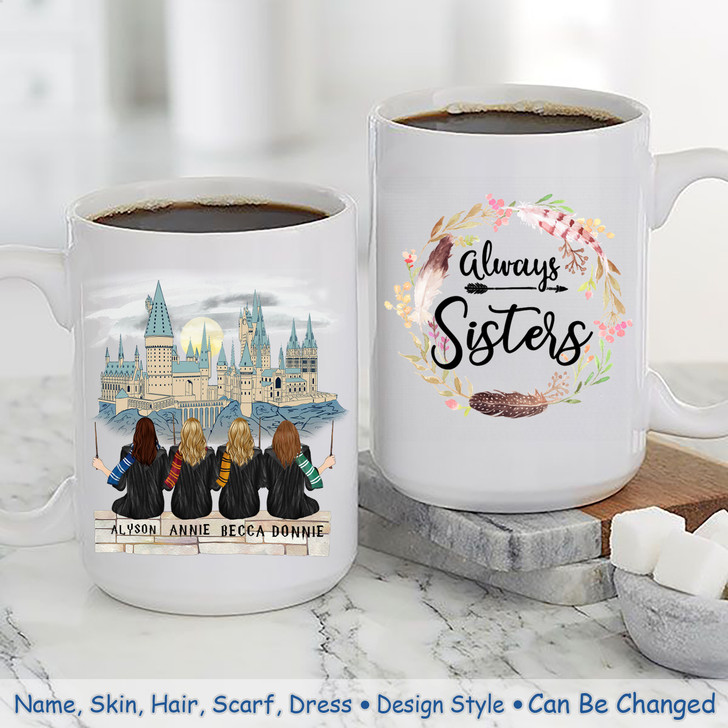 4 Sisters/Friends Mug- HP - Customized