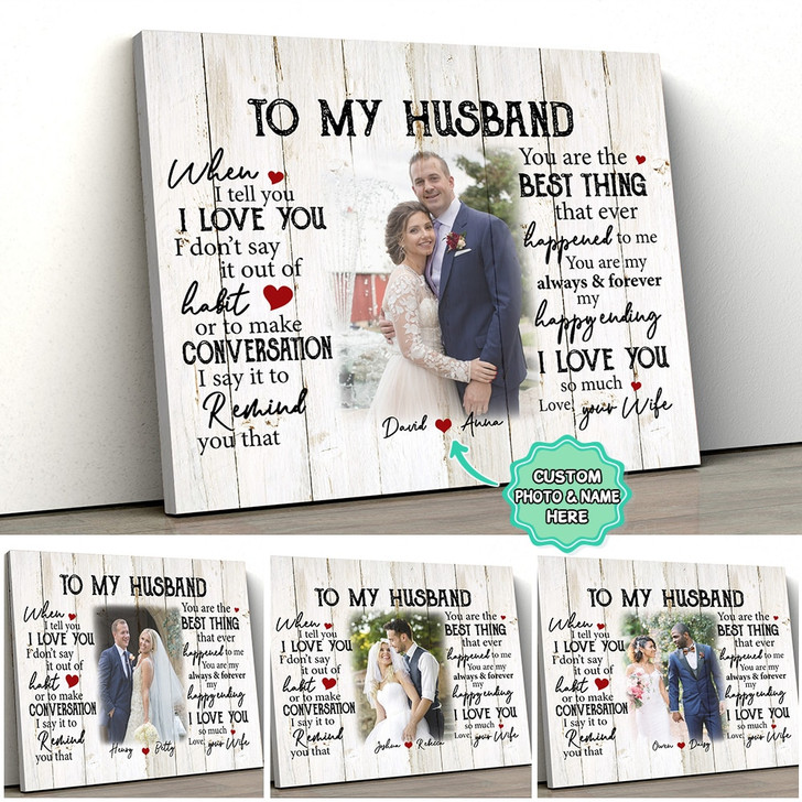 Moosfy - Canvas -To My Wife, To My Husband - Custom Gift Canvas for Wives and Husband 2
