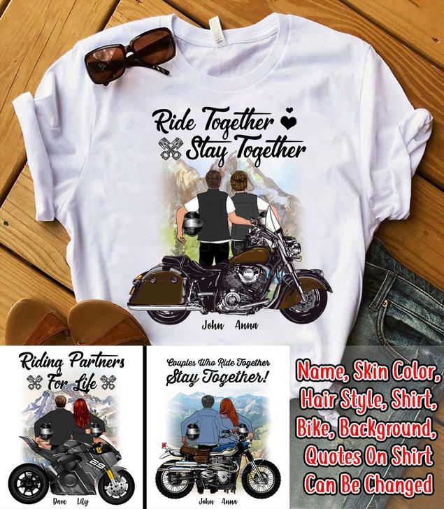 Moosfy Personalized T-shirt - Bike Couple