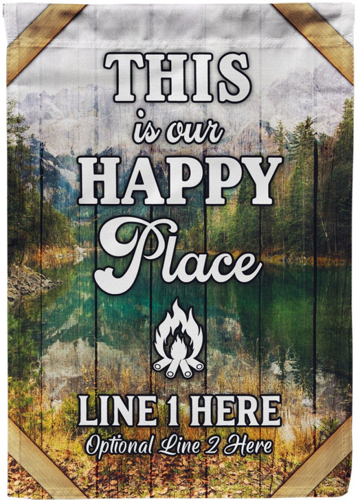 Moosfy Camping Flag - This is our happy place
