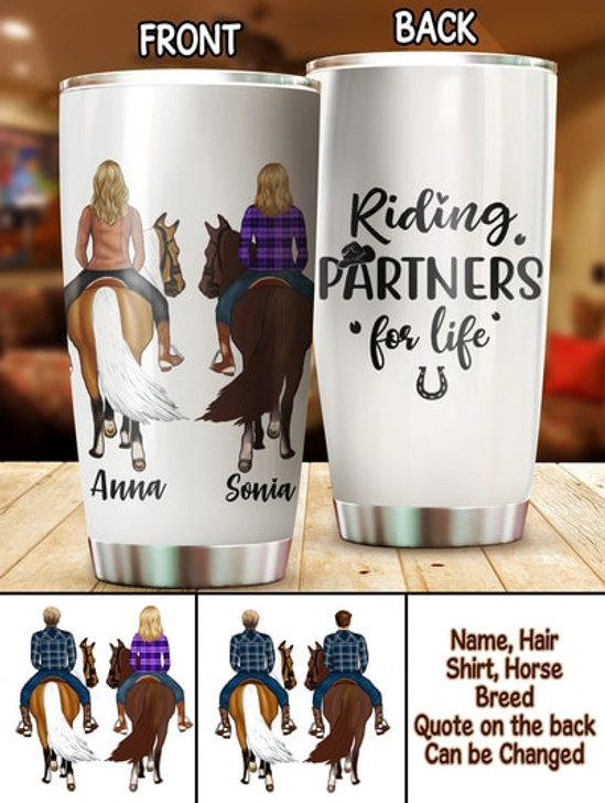 Personalized Horse Gift For Horse Lover Riding Parters Tumbler Cup