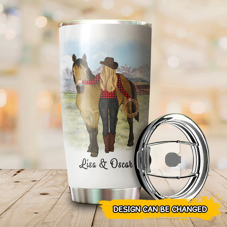 Personalized Horse Gift For Horse Lover Girl With A Horse Tumbler Cup For Women