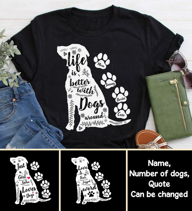Moosfy Personalised Dog Paw Shirt