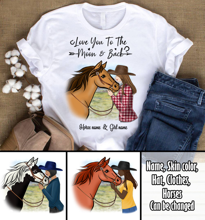 Moosfy Personalised Horse and Girl Shirt - New Version