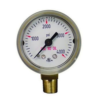 """Weldmark 1-1/2"""" 4000 PSI Replacement Gauge"""