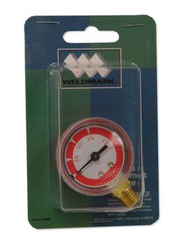 """Weldmark 1-1/2"""" Acetylene Contents Gauge 400 PSI Max"""