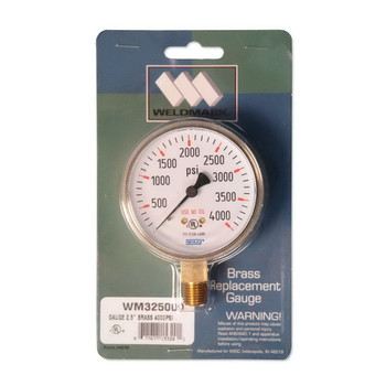 """Weldmark 2-1/2"""" 4000 PSI Replacement Gauge"""
