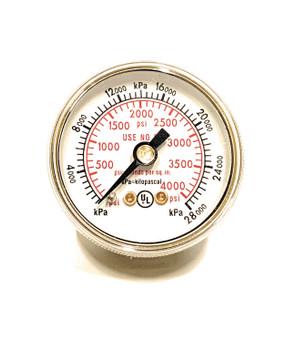 """Weldmark 1-1/2"""" 4000 PSI Rear Mount Pressure Gauge"""