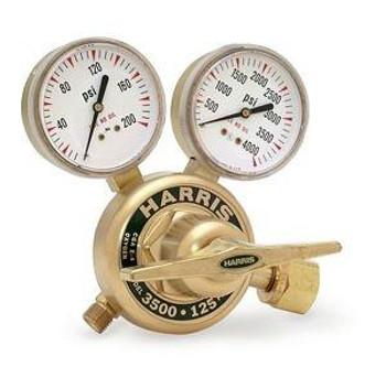 HARRIS 3500-125-680 High Flow Pressure Regulator Ar-He-N2