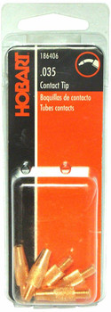 Miller/Hobart 186406 Contact Tip, 0.035 M5 by 0.8mm Thread