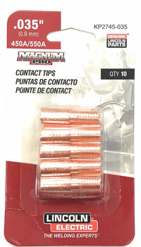 KP2745-035 Lincoln Contact Tip .035 (450/550 Amp) (10PK)