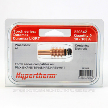 Hypertherm Electrode 220842 for Power Max (5PK) …