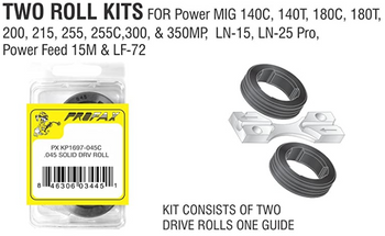 Lincoln Equivalent Drive Roll Kit, Core Wire, 045, 1.0-1.2MM