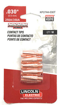 "Lincoln Electric Magnum Pro Contact Tips .030"" 250A/350A - qty10 - KP2744-030 …"