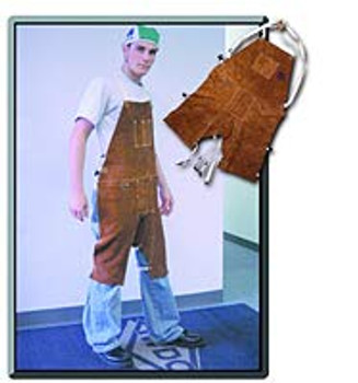 Welding Split Cowhide Split Leg Bib Apron (one Size fits All) …