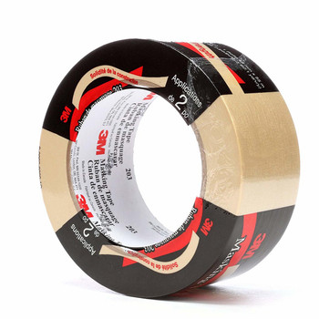 3M General Purpose Masking Tape 203 Beige, 24 mm x 55 m (Pack of 1)
