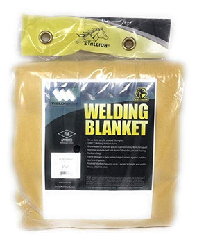 Welding Blanket 30oz 6' x 8' with Grommets on All Sides by Black Stallion …