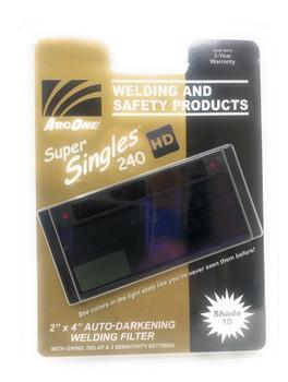 """ArcOne SS240 Super Singles 240 Auto-Darkening Filter 2 x 4.25 x 0.25"""" …"""