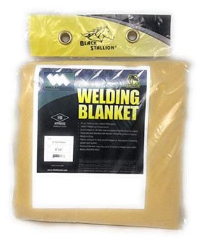 Welding Blanket 30oz 6' x 6' with Grommets on All Sides by Black Stallion