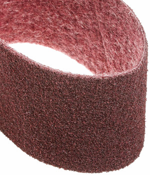 "Walter Blendex Linear Finishing Drum Abrasive Belt, 5"" Diameter x 15-1/2"" Length x 3-1/2"" Width, Grit Medium, Maroon"
