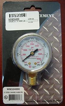 """WELDMARK REPLACEMENT PRESSURE GAUGE - 4000PSI - 2.0"""""""