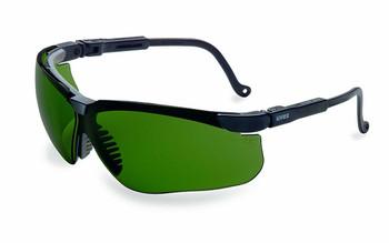 Uvex S3207 Genesis Safety Eyewear, Black Frame, Shade 3.0 Infra-Dura Ultra-Dura Hardcoat Lens