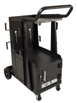 Metal Man - Three-Tier Welding Cart & Cabinet