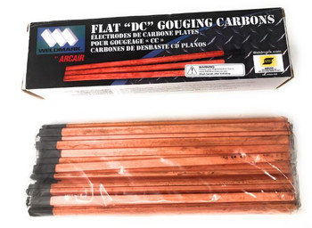 "Arcair Gouging Rod 3/8"" X 12"" Flat DC Copper Coated Carbons"