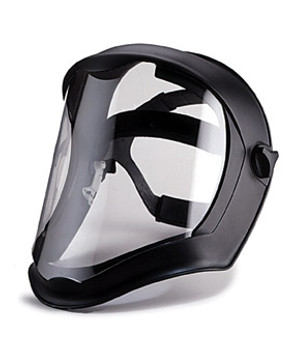 Uvex Bionic Face Shield, Matte Black Frame, Clear Lens