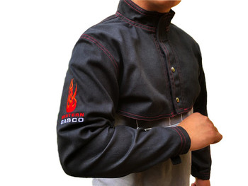 Welding Half Jacket  - Black w/Red Flames - Various Sizes