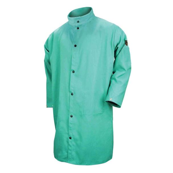 Revco F9-50C-L 9 Oz. Flame Resistant Cotton 50 Inch Shop Coat