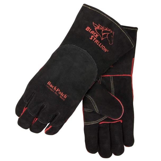 Black Stallion 360 High Quality Select Shoulder Split Welding Gloves w/BackPatch