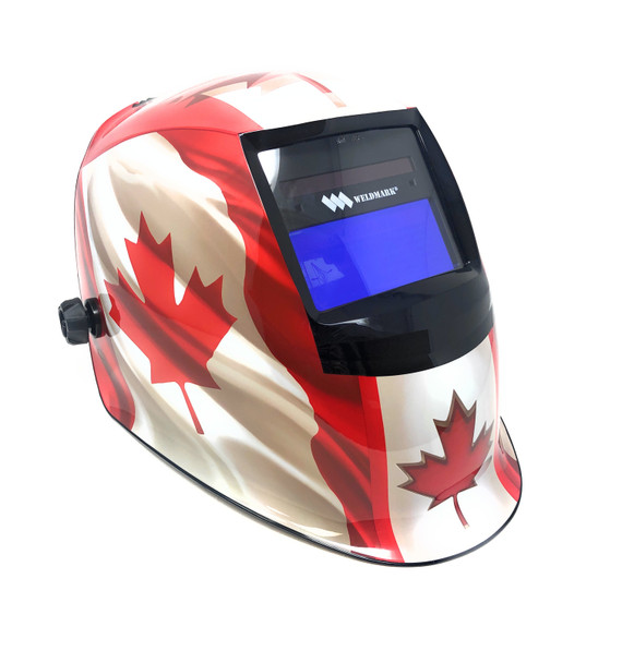 WELDMARK 9-13 Variable Shade Auto-Darkening Welding Helmet (Maple Leaf)