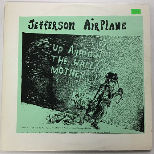 Jefferson Airplane - Up Against the Wall Mother - bootleg vinyl record LP