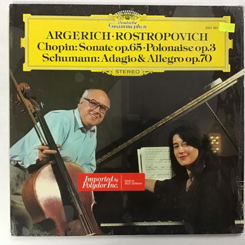 Argerich · Rostropovich – Chopin / Schumann – Sonate Op. 65 · Polonaise Op. 3 / Adagio & Allegro Op. 70 vinyl record LP