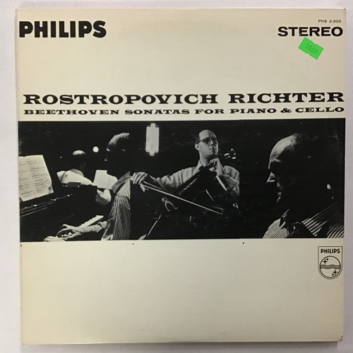 Mstislav Rostropovich, Sviatoslav Richter – Beethoven Sonatas For Piano & Cello vinyl record LP