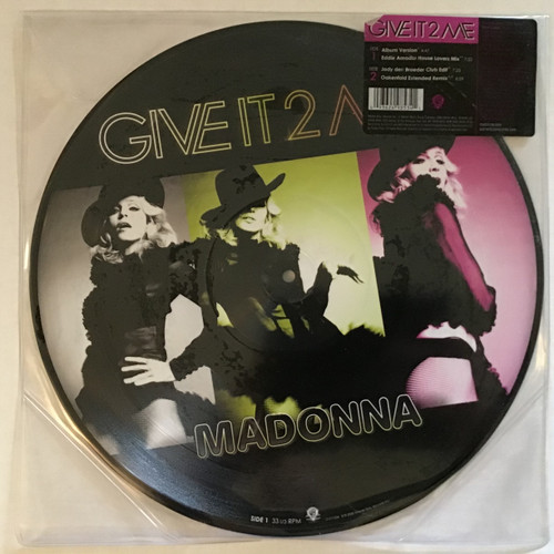 "Madonna - Give it 2 me picture disc - 12"" vinyl record EP LP"