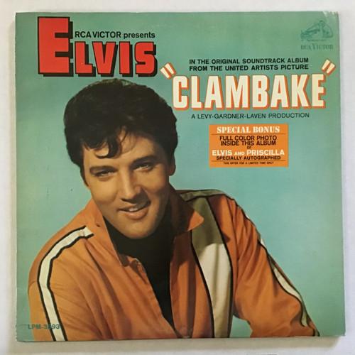 Elvis Presley - Clambake - MONO -PROMO - Soundtrack vinyl record LP