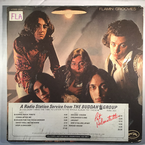 Flaming Groovies - Flamingo - PROMO - vinyl record LP